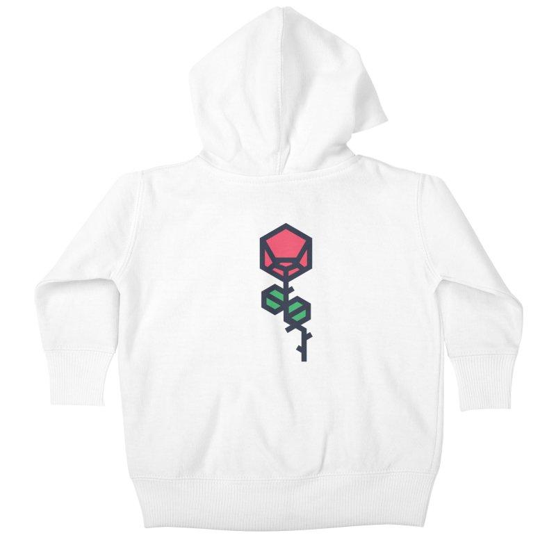 Rose Kids Baby Zip-Up Hoody by TravisPixels's Artist Shop