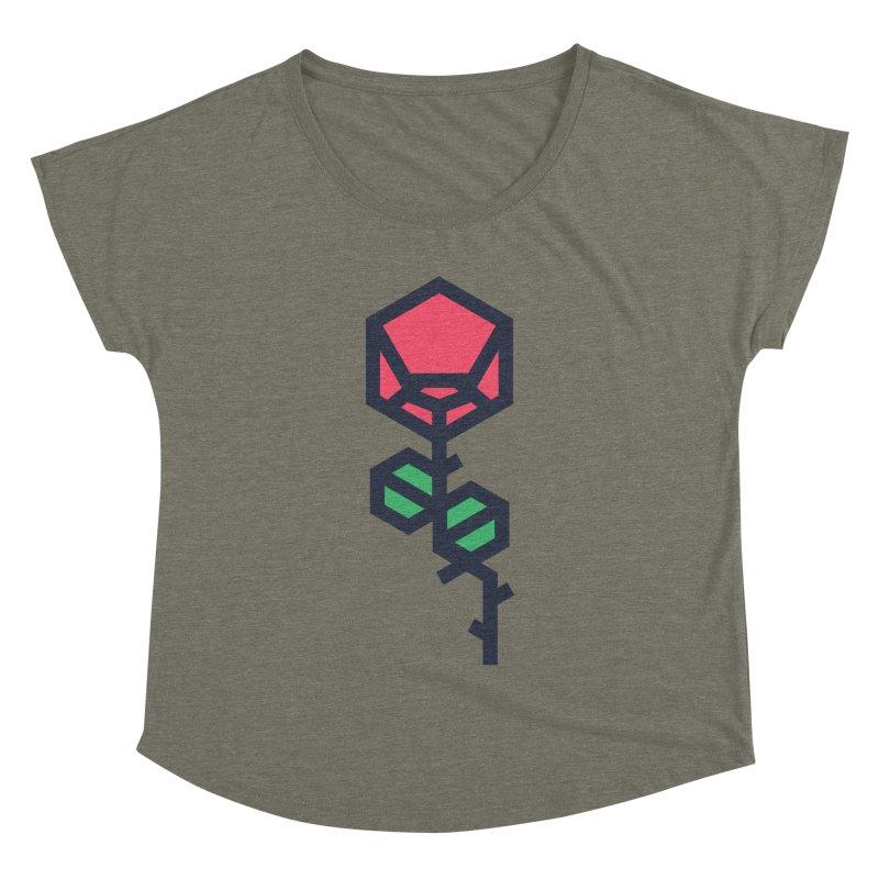 Rose Women's Dolman Scoop Neck by TravisPixels's Artist Shop