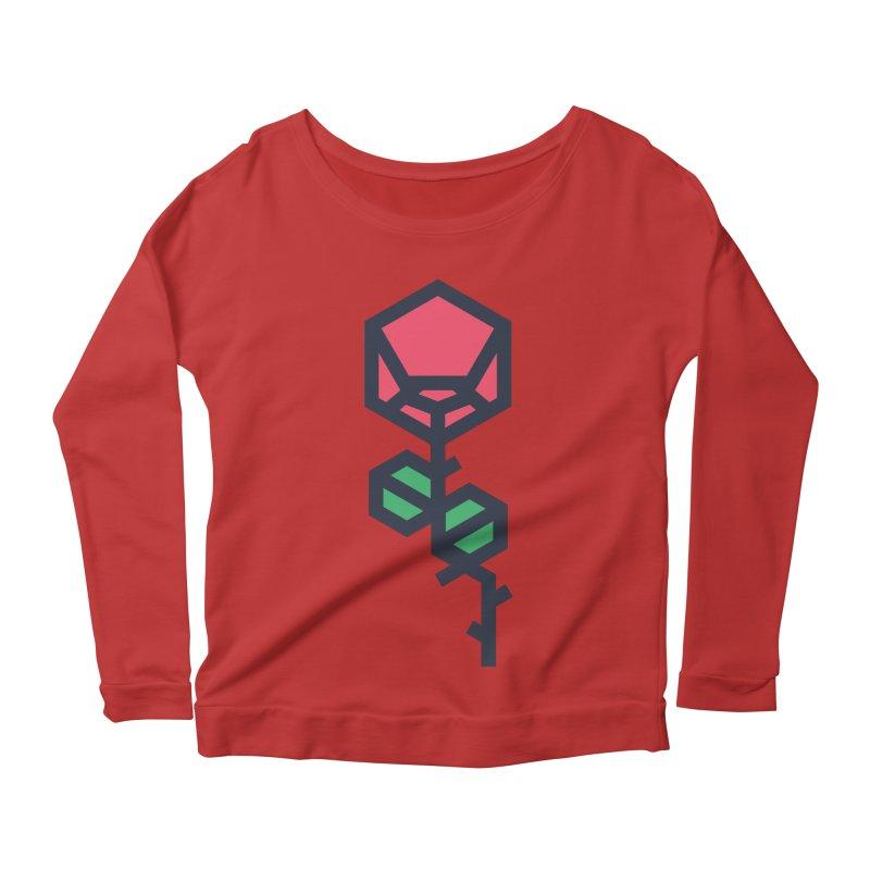 Rose Women's Scoop Neck Longsleeve T-Shirt by TravisPixels's Artist Shop