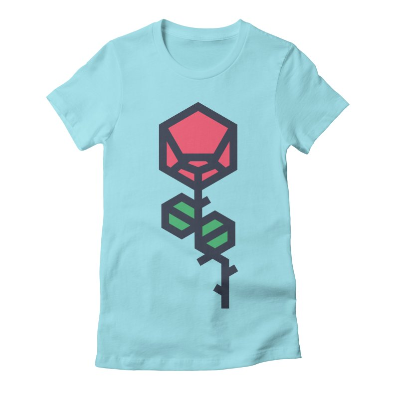Rose Women's Fitted T-Shirt by TravisPixels's Artist Shop