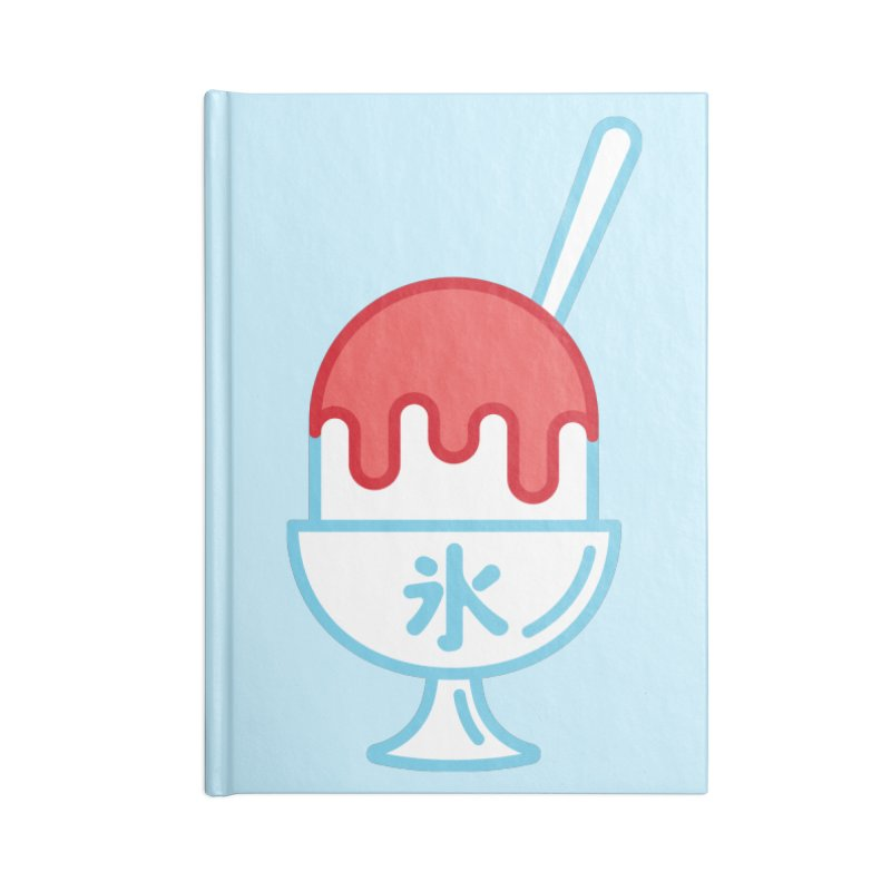 Kakigori Accessories Lined Journal Notebook by TravisPixels's Artist Shop