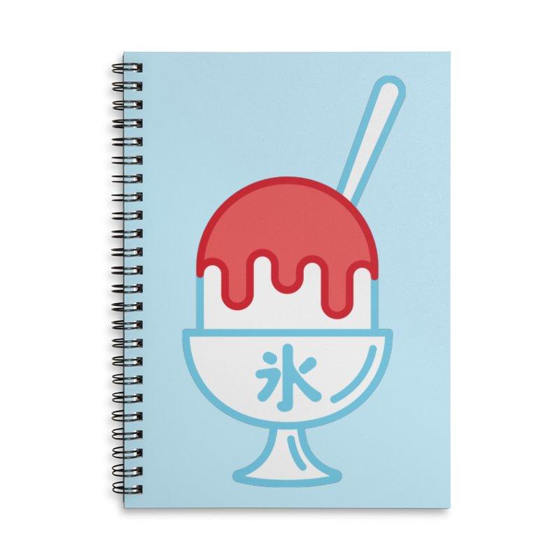 Kakigori Accessories Lined Spiral Notebook by TravisPixels's Artist Shop