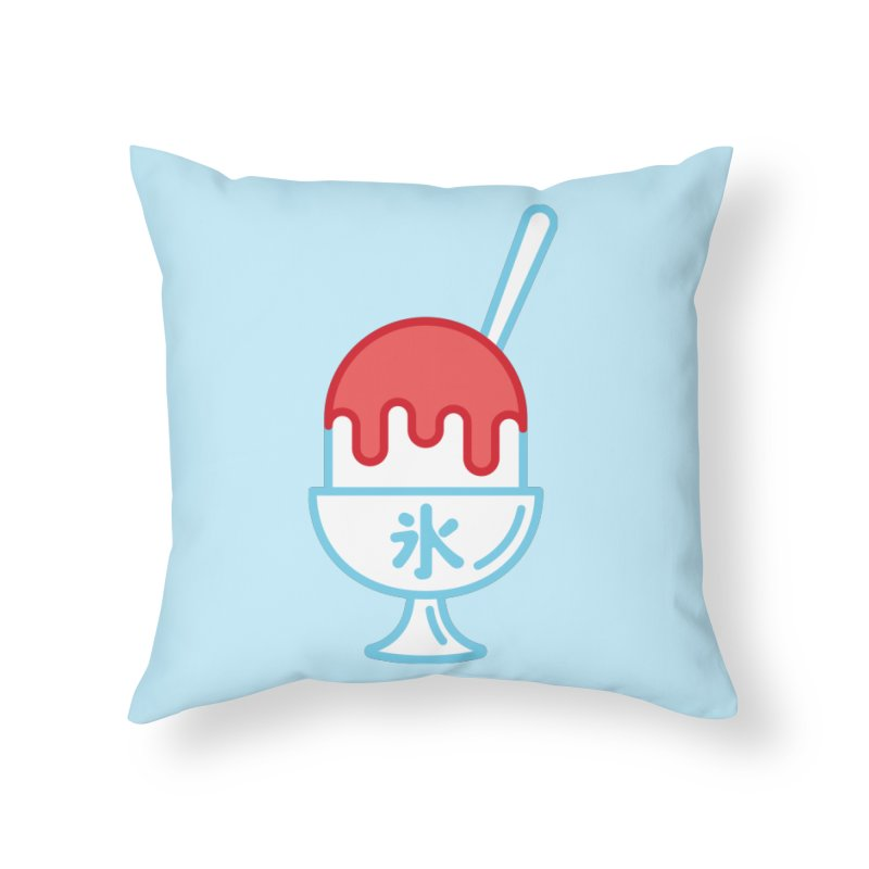 Kakigori Home Throw Pillow by TravisPixels's Artist Shop