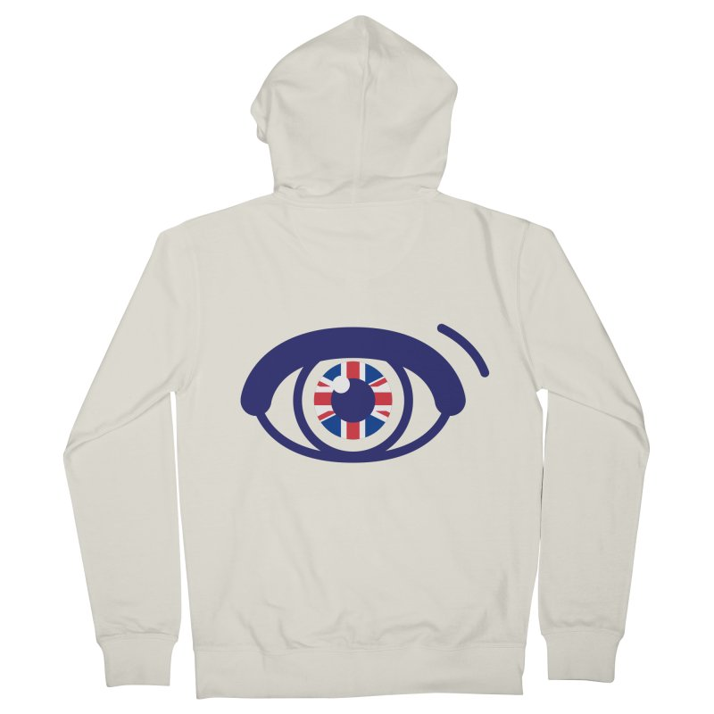 For British Eyes Only Men's French Terry Zip-Up Hoody by TravisPixels's Artist Shop