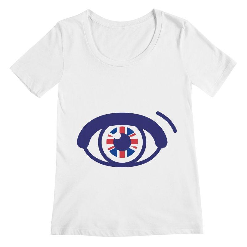 For British Eyes Only Women's Regular Scoop Neck by TravisPixels's Artist Shop