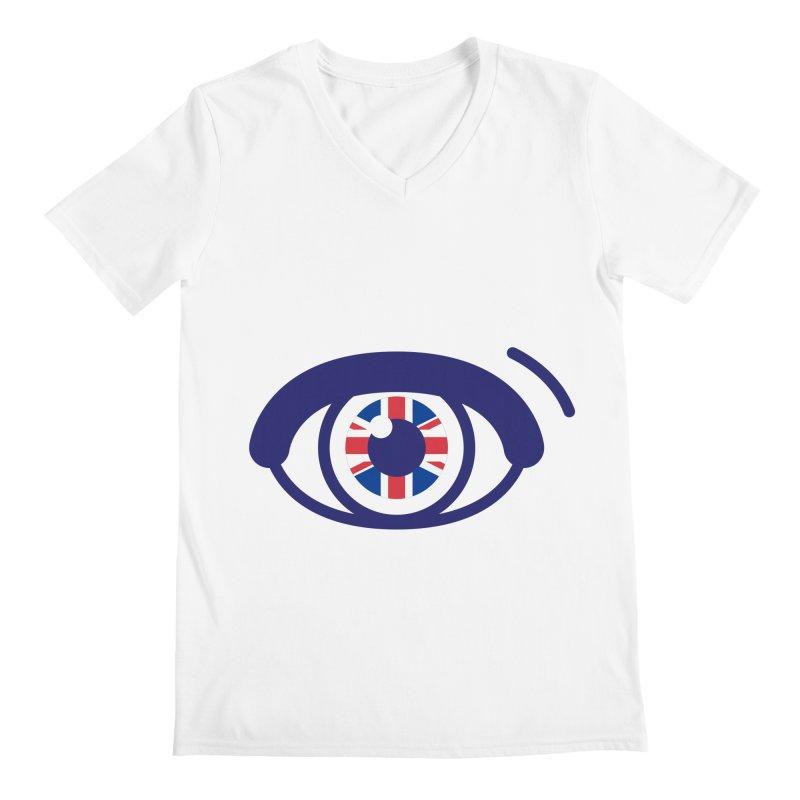 For British Eyes Only Men's Regular V-Neck by TravisPixels's Artist Shop