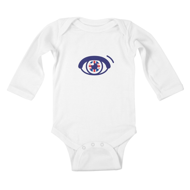 For British Eyes Only Kids Baby Longsleeve Bodysuit by TravisPixels's Artist Shop