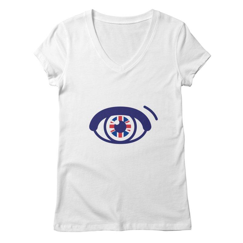 For British Eyes Only Women's Regular V-Neck by TravisPixels's Artist Shop