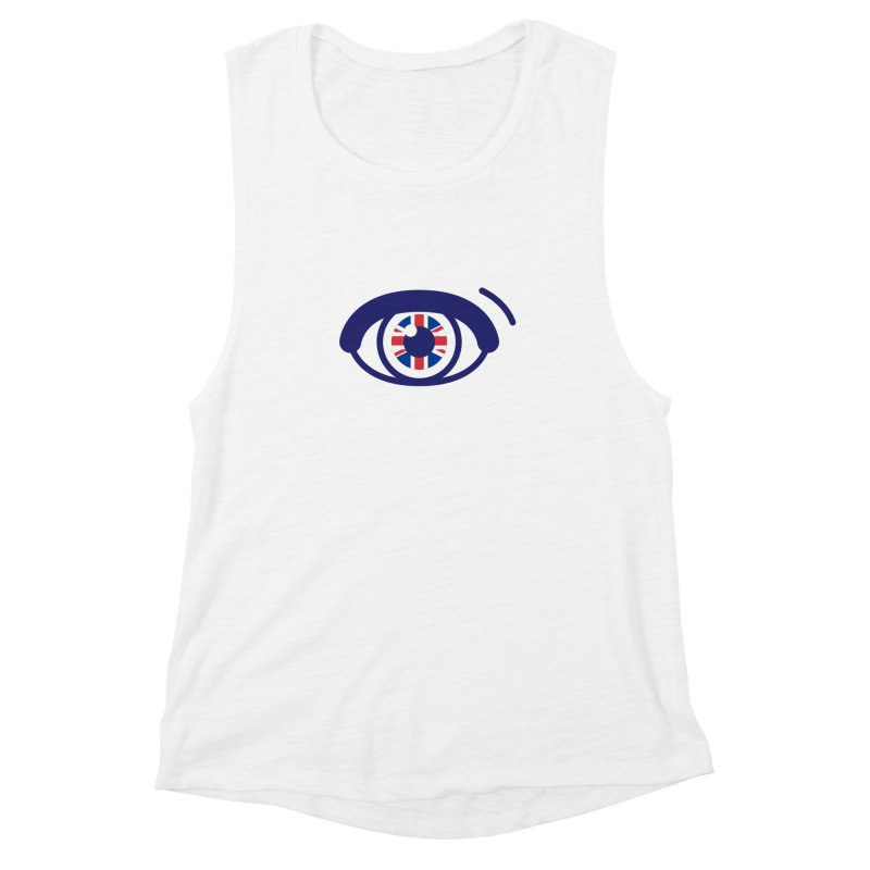 For British Eyes Only Women's Muscle Tank by TravisPixels's Artist Shop