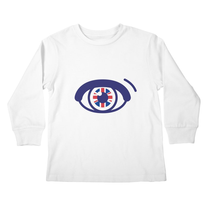 For British Eyes Only Kids Longsleeve T-Shirt by TravisPixels's Artist Shop