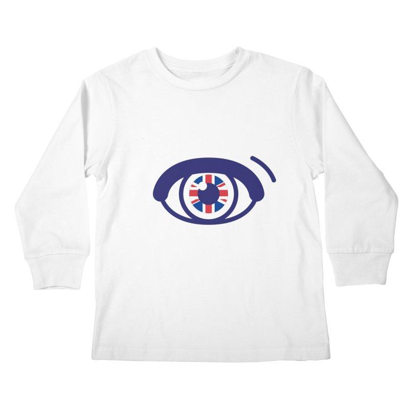 For British Eyes Only Kids Longsleeve T-Shirt by TravisPixels's Artist Shop