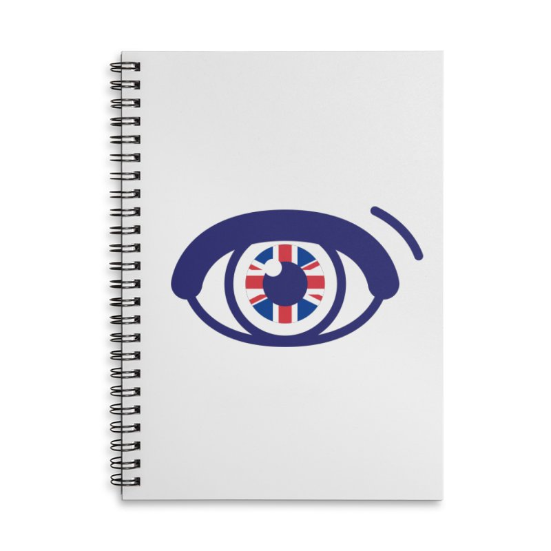 For British Eyes Only Accessories Lined Spiral Notebook by TravisPixels's Artist Shop