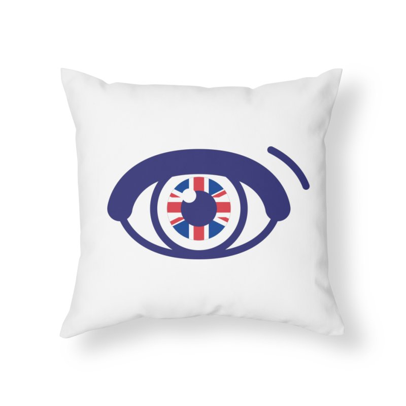 For British Eyes Only Home Throw Pillow by TravisPixels's Artist Shop