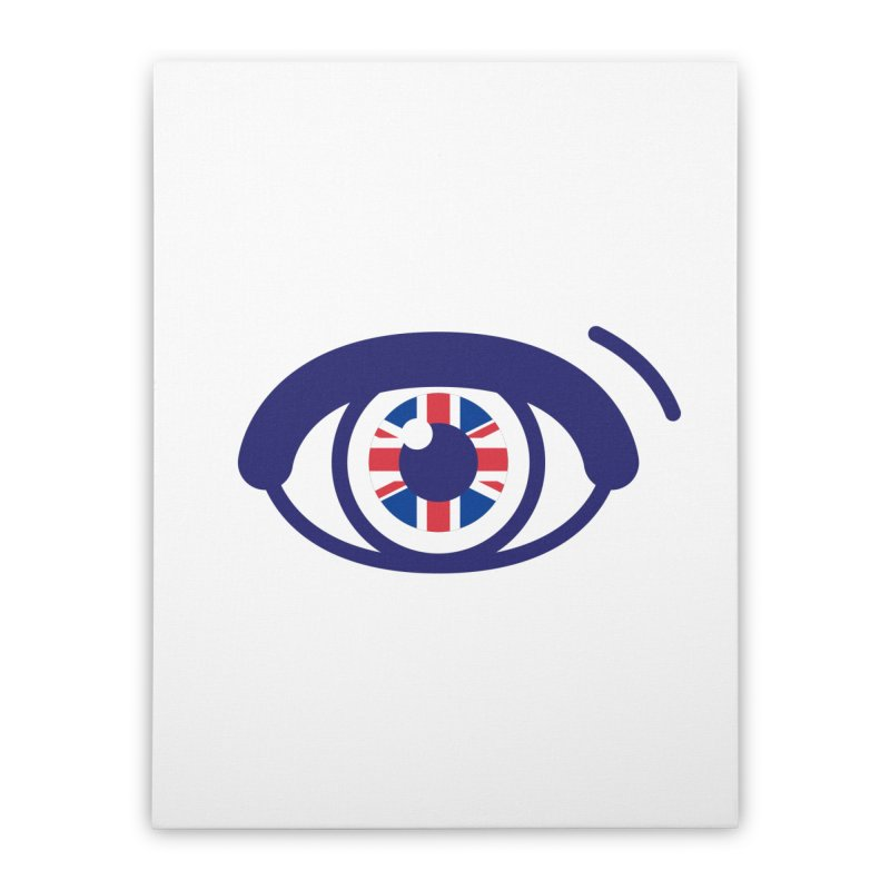 For British Eyes Only Home Stretched Canvas by TravisPixels's Artist Shop