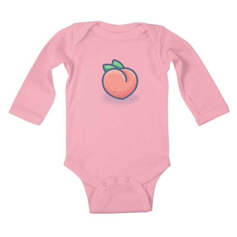 Pêche Kids Baby Longsleeve Bodysuit by TravisPixels's Artist Shop