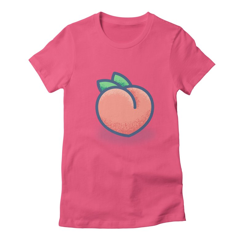 Pêche Women's Fitted T-Shirt by TravisPixels's Artist Shop