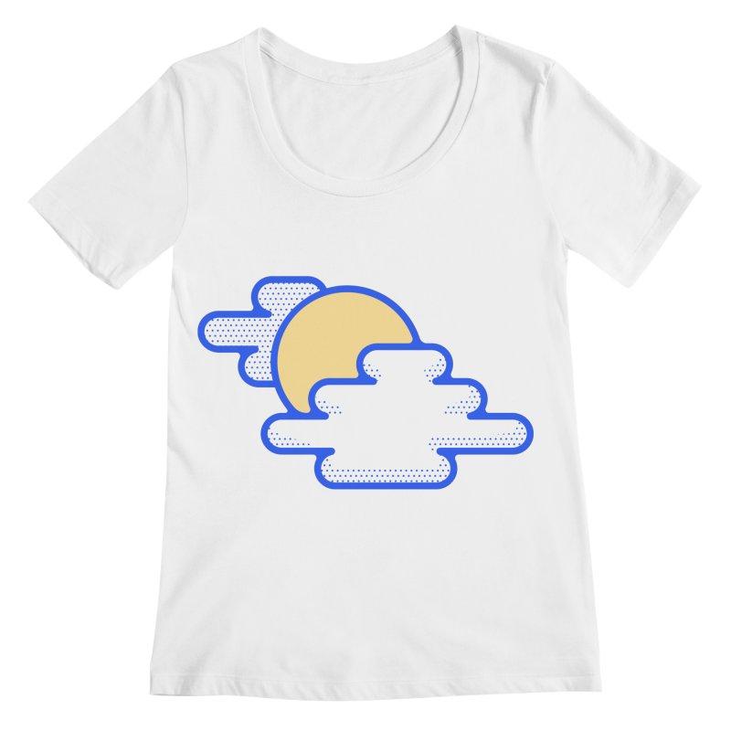Cloudy Day Women's Regular Scoop Neck by TravisPixels's Artist Shop