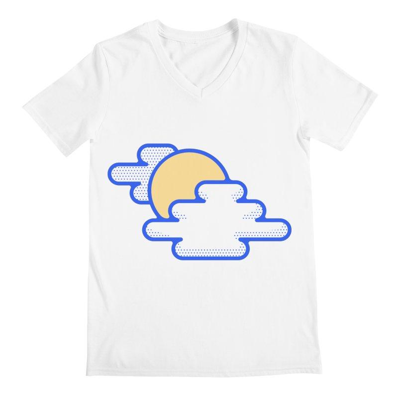 Cloudy Day Men's Regular V-Neck by TravisPixels's Artist Shop