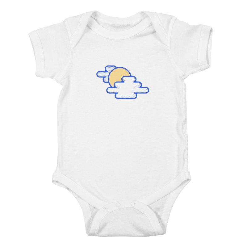 Cloudy Day Kids Baby Bodysuit by TravisPixels's Artist Shop