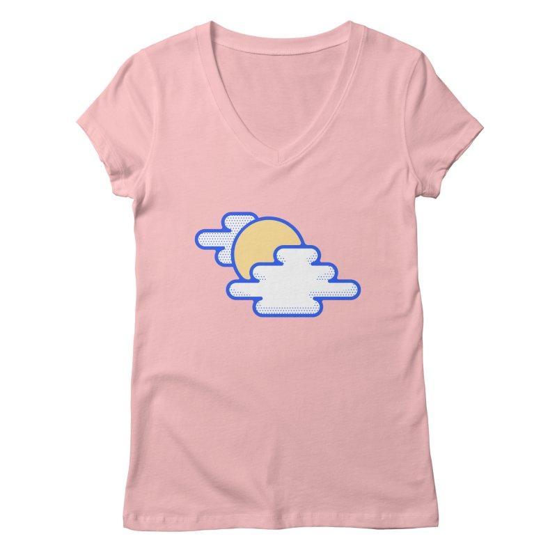 Cloudy Day Women's Regular V-Neck by TravisPixels's Artist Shop