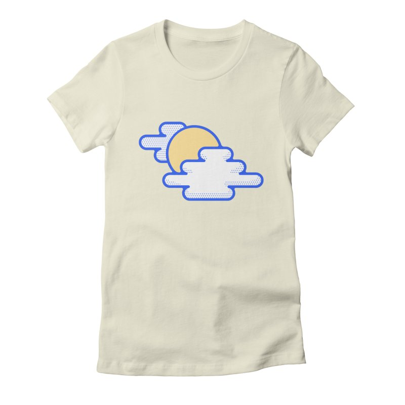 Cloudy Day Women's Fitted T-Shirt by TravisPixels's Artist Shop