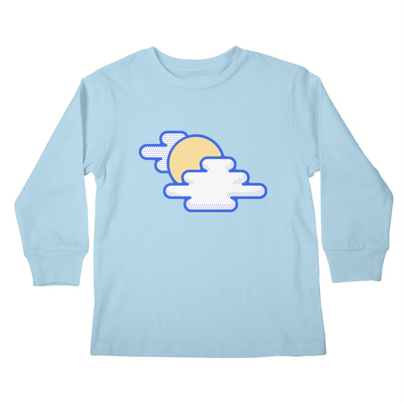 Cloudy Day Kids Longsleeve T-Shirt by TravisPixels's Artist Shop