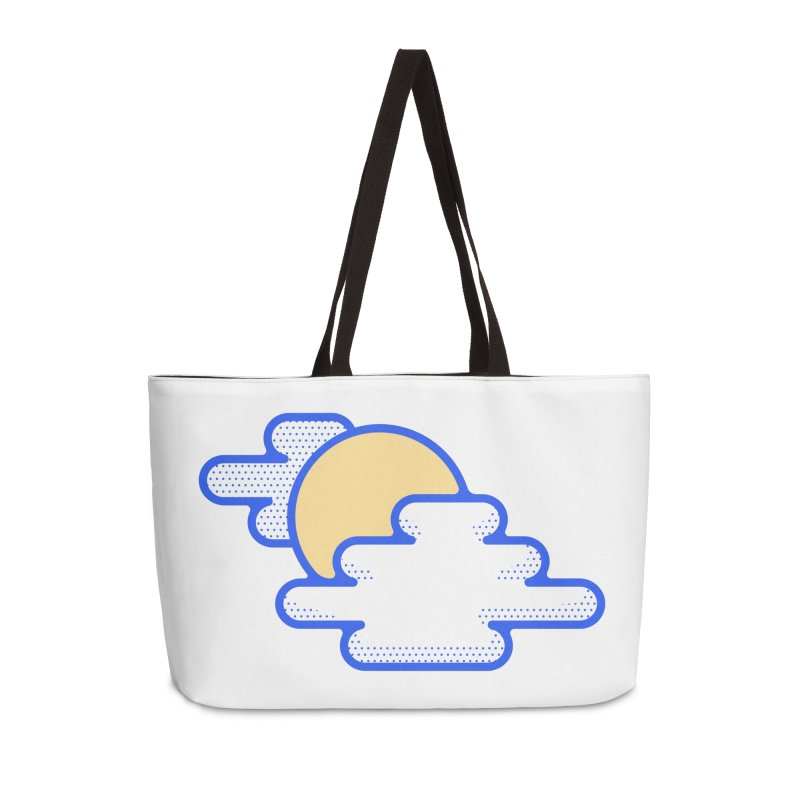 Cloudy Day Accessories Weekender Bag Bag by TravisPixels's Artist Shop