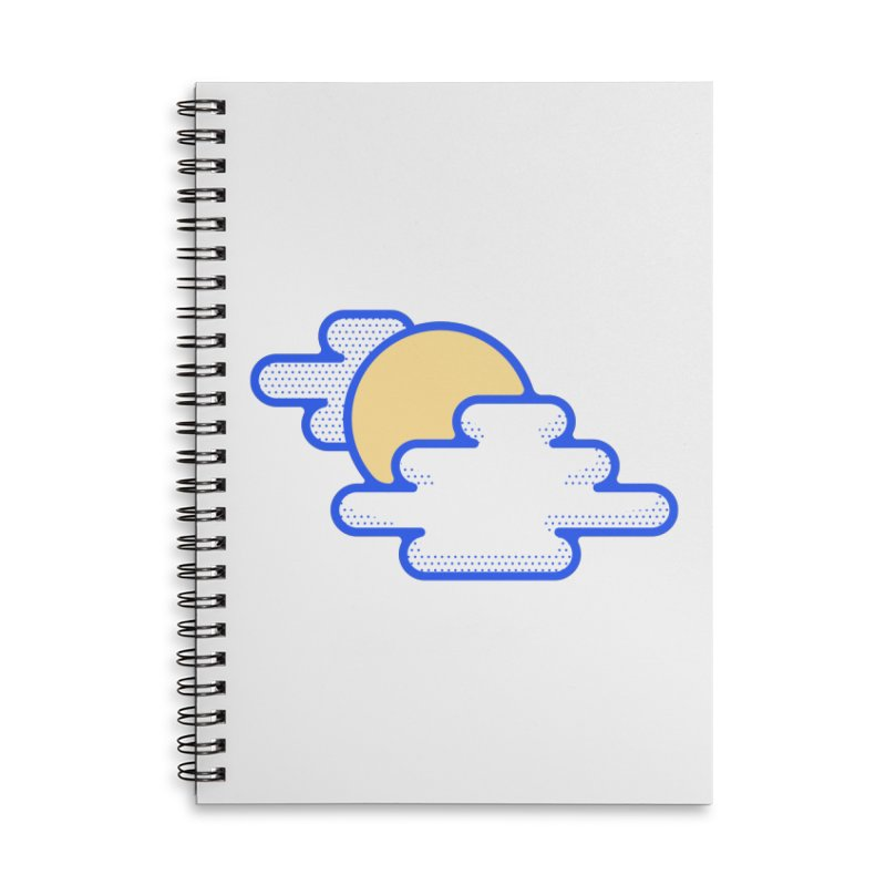 Cloudy Day Accessories Lined Spiral Notebook by TravisPixels's Artist Shop