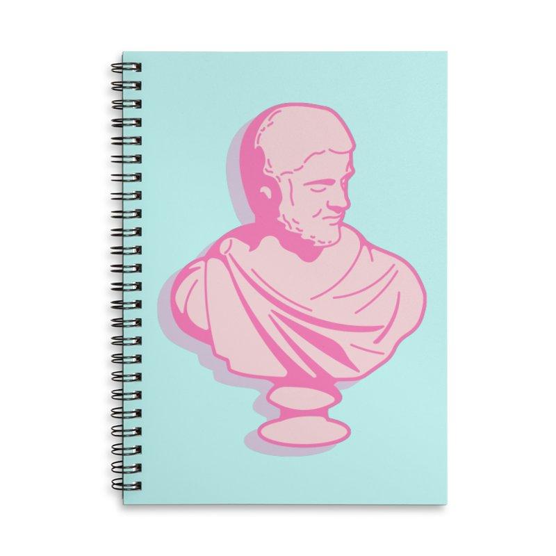 Bust Accessories Lined Spiral Notebook by TravisPixels's Artist Shop