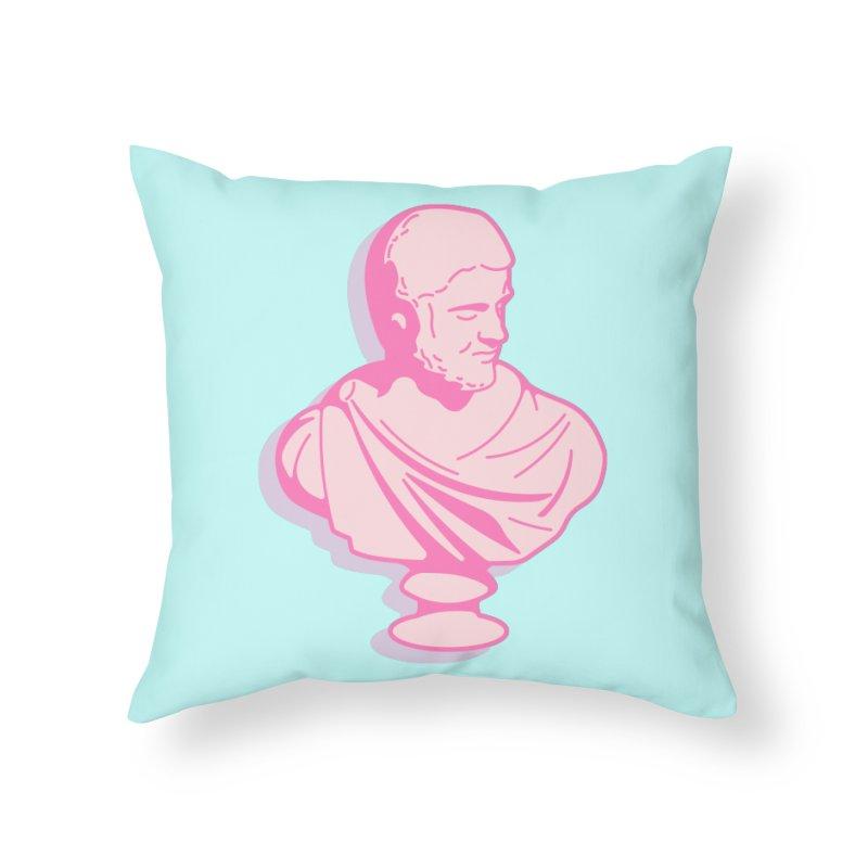 Bust Home Throw Pillow by TravisPixels's Artist Shop