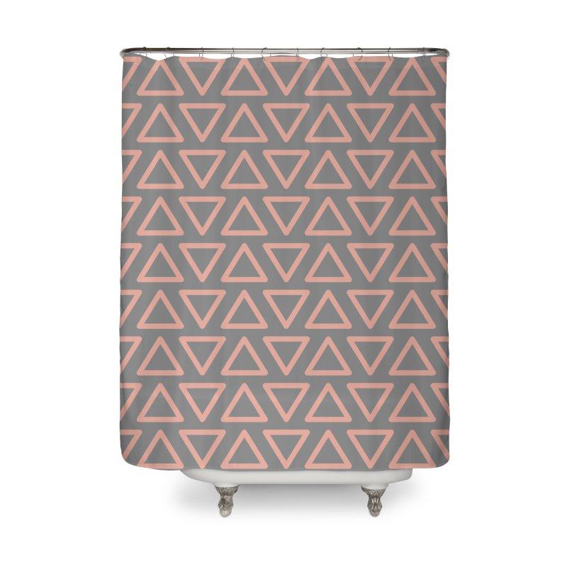 Trokutan (Coral) Home Shower Curtain by trebam