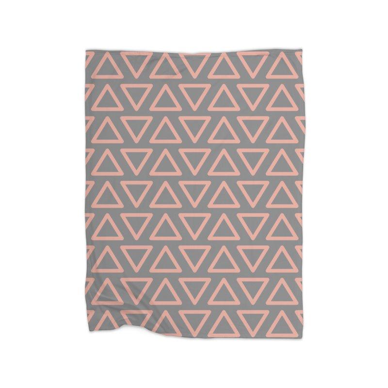 Trokutan (Coral) Home Blanket by trebam
