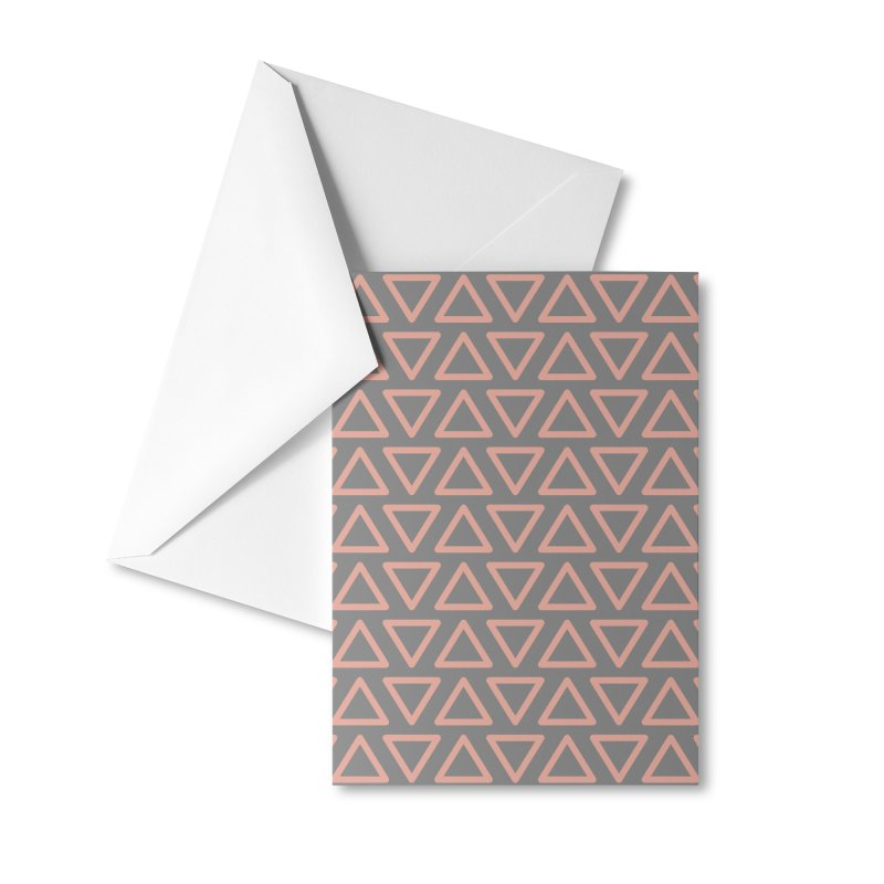 Trokutan (Coral) Accessories Greeting Card by trebam