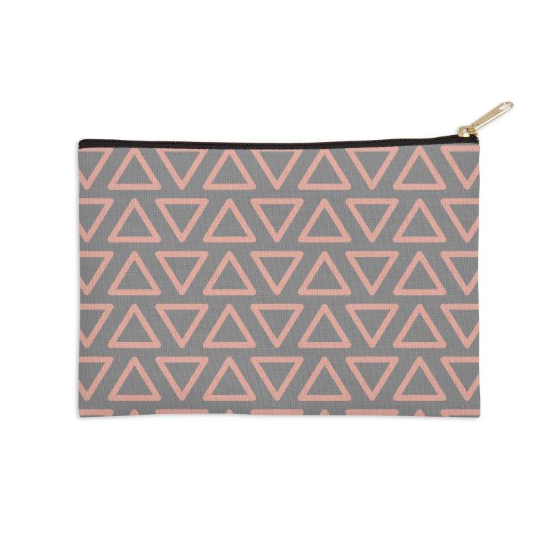 Trokutan (Coral) Accessories Zip Pouch by trebam