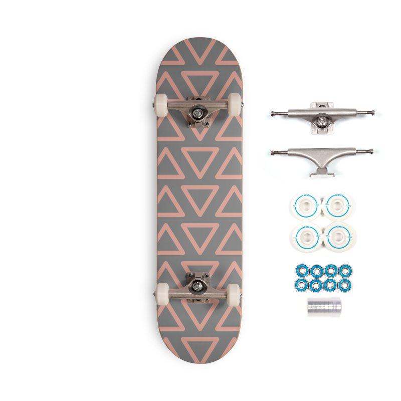 Trokutan (Coral) Accessories Skateboard by trebam