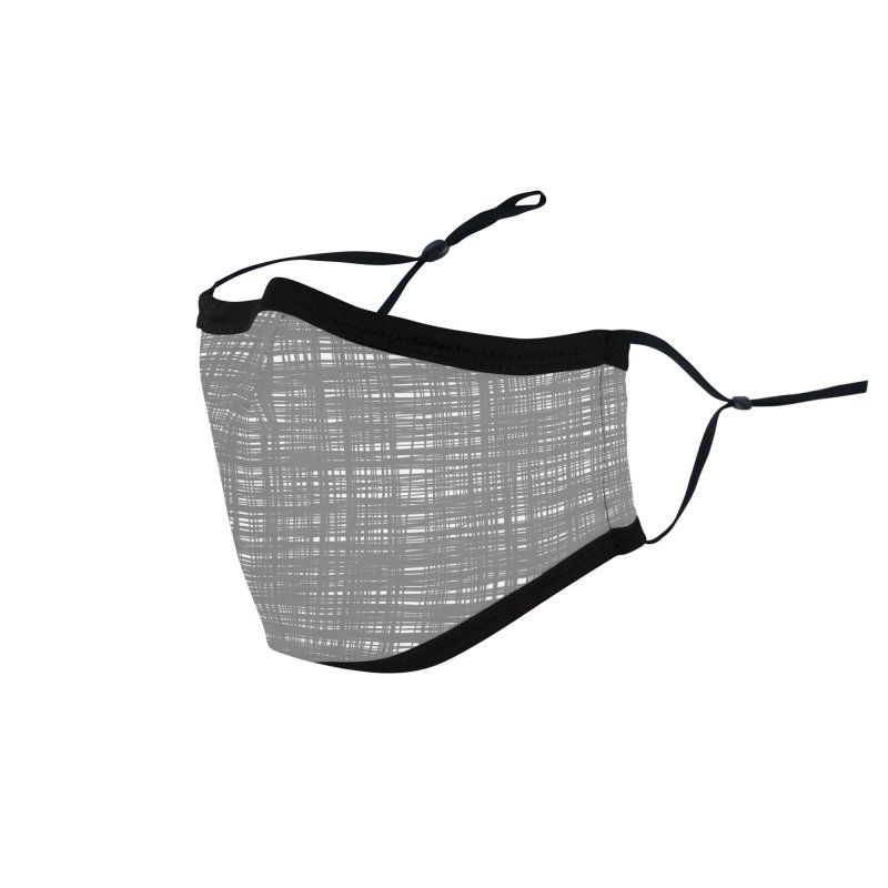 Platno (Gray and White) Accessories Face Mask by trebam