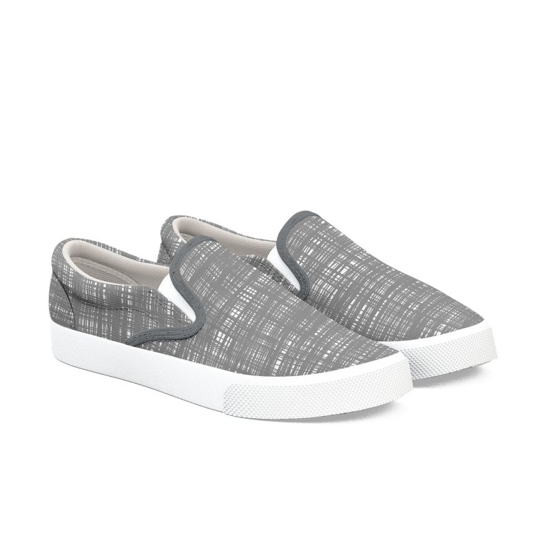 Platno (Gray and White) Men's Shoes by trebam