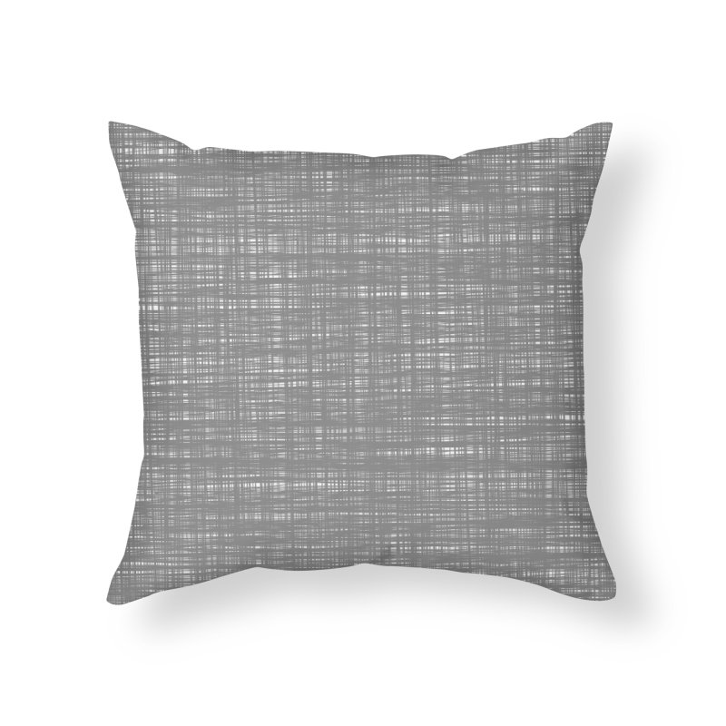 Platno (Gray and White) Home Throw Pillow by trebam