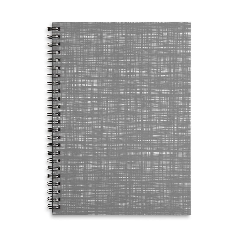 Platno (Gray and White) Accessories Notebook by trebam