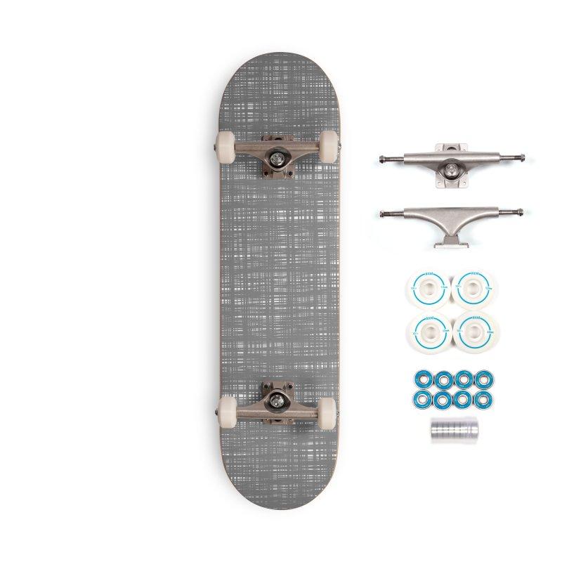 Platno (Gray and White) Accessories Skateboard by trebam