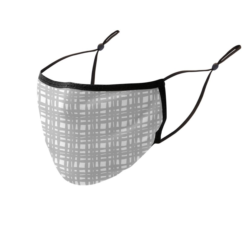 Kariran (Gray) Accessories Face Mask by trebam
