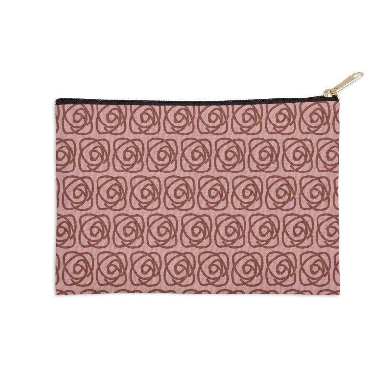 Rozeta (Henna/Rose) Accessories Zip Pouch by trebam