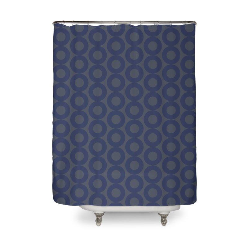 Runda (Blues) Home Shower Curtain by trebam