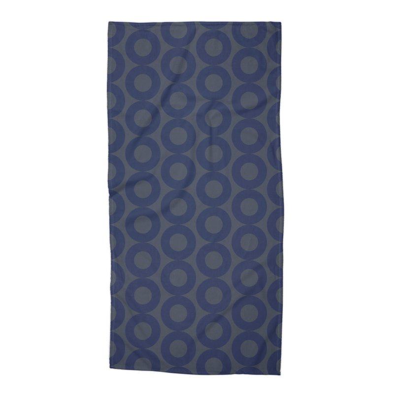 Runda (Blues) Accessories Beach Towel by trebam