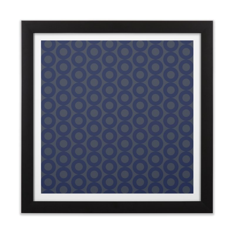 Runda (Blues) Home Framed Fine Art Print by trebam