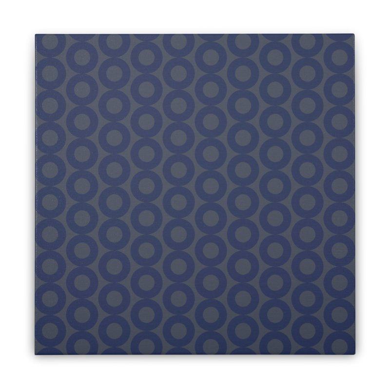 Runda (Blues) Home Stretched Canvas by trebam