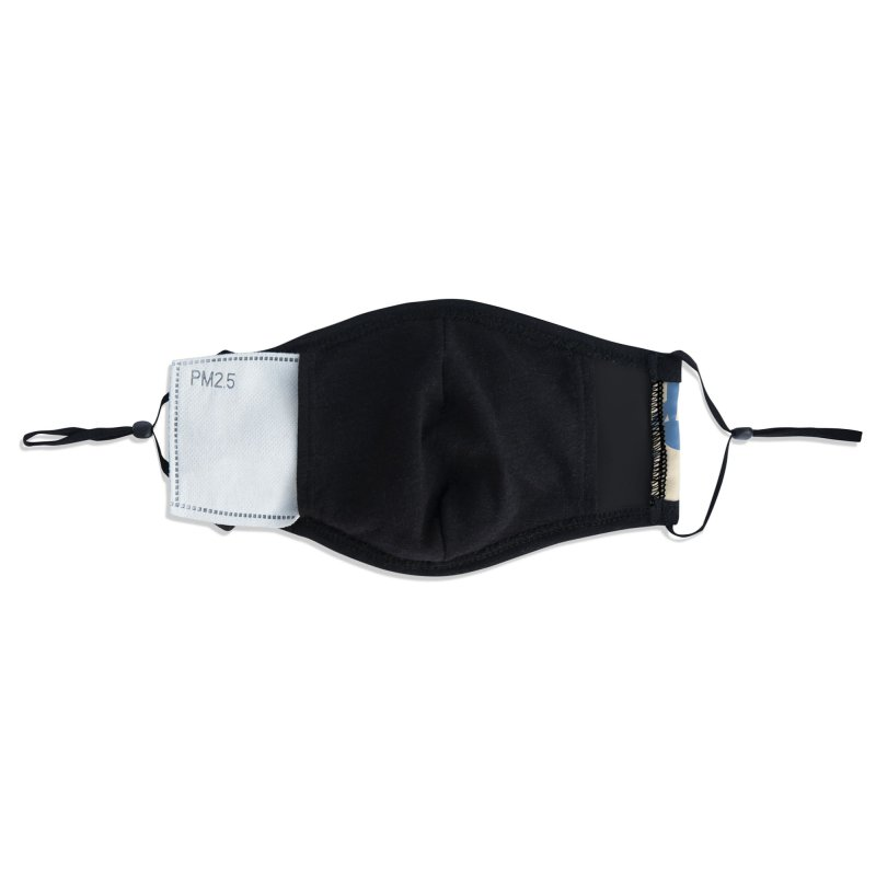 Koraljni (Blue/Almond) Accessories Face Mask by trebam
