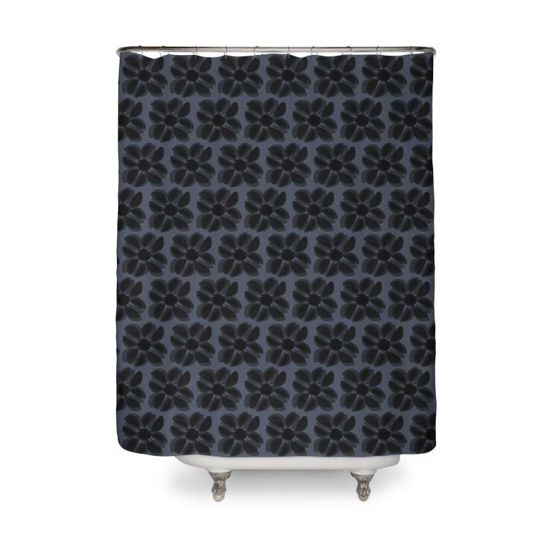 Redaka (Black/Blue) Home Shower Curtain by trebam