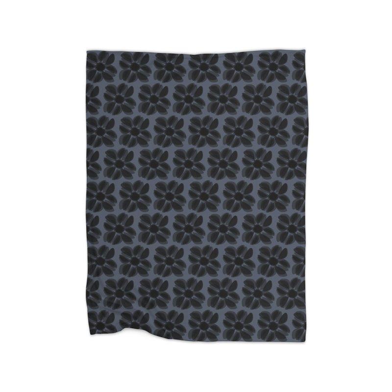 Redaka (Black/Blue) Home Blanket by trebam