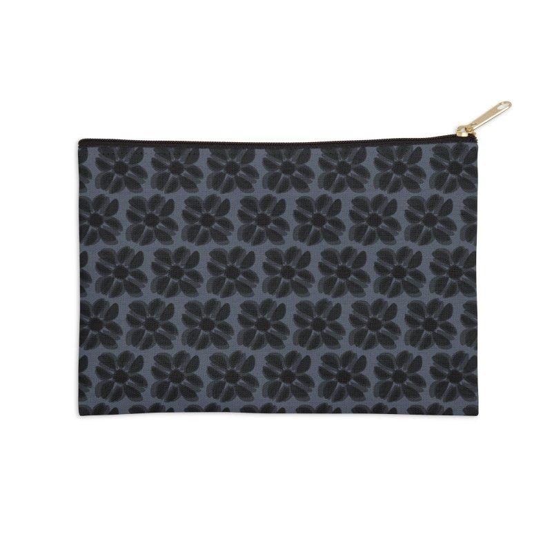 Redaka (Black/Blue) Accessories Zip Pouch by trebam